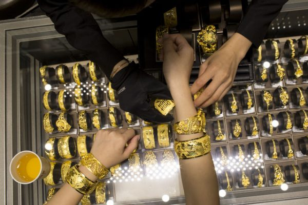 Shopping Inside A Luk Fook Holdings Ltd. Jewelry Store Ahead Of GDP Numbers